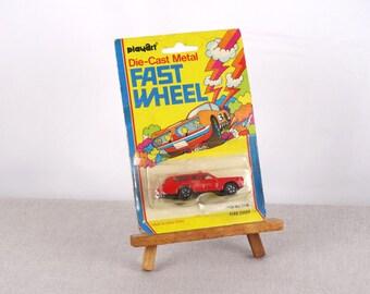 Fast Wheel, Fire Chief Car, Miniature Car, Die Cast Car, Matchbox Car, Chirdren Toy, Fire Chief Gift, Metal Miniature Car, Play Art