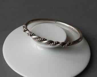 Scandinavian tough elegant Viking inspired sterling silver bracelet.