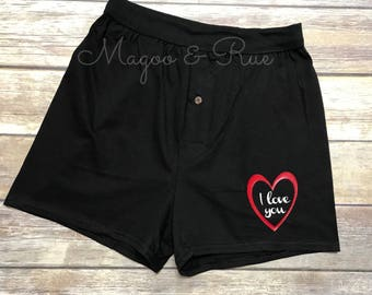 Personalized Boxers Adult Naughty Valentine's Day