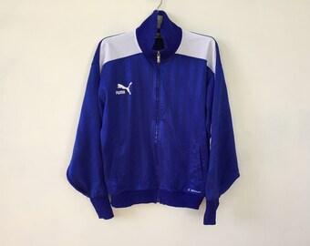 Puma Track Top Jacket Vintage Warm Up Jacket Men Size L