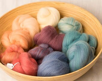 Soft Rainbow Gradient set, perfect for spinning or felting (170220)