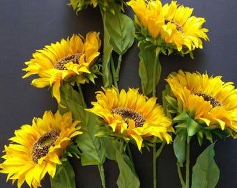 "26"" Sunflower stems - 6 stems"