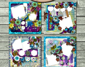 Digital Scrapbooking, Quick Pages, Premade Layouts: Thankful