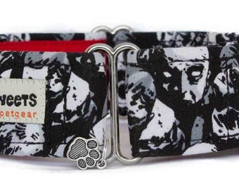 "Noddy & Sweets Adjustable Martingale Collar [1"", 1.5"", 2"" Zombies]"