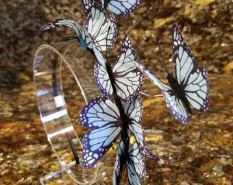 Headband with blue butterflies