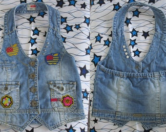 children clothes jean patchs sequins apples flowers embroidered boho hippie jean