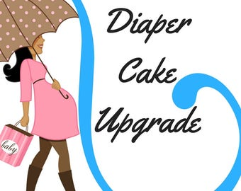 Upgrade Mini Diaper Cake to 2-Tier, Diaper Cake Upgrade
