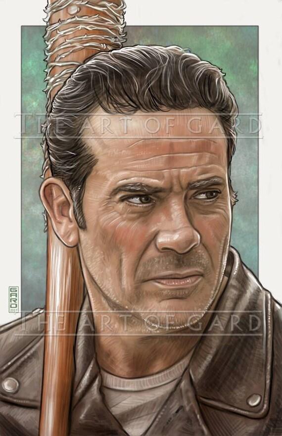 Negan (The Walking Dead) Art Print 11X17