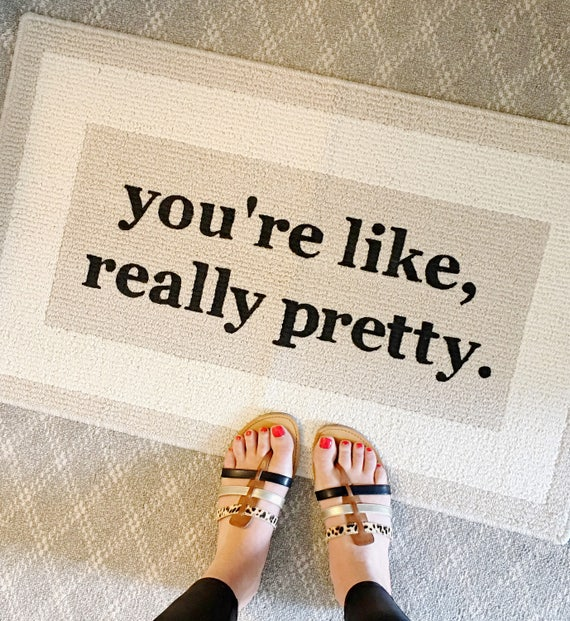the original youu0027re like really pretty decorative doormat door mat area rug hand painted 20x34 by be there in five