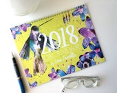 2018 Wall Calendar | Botanical Watercolor Calendar | Wall Calendar | Watercolor