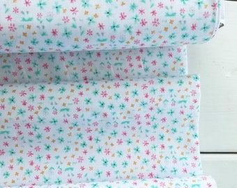 HIll and Dale - Forget Me Not(White) - Ana Davis - Blend Fabrics