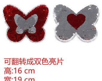 Butterfly sequined embroidered patch applique dress accessories patch applique home decoration