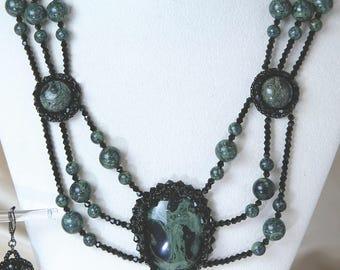 Kambaba beaded Necklace set