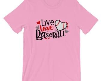 Live Love Baseball Short-Sleeve Unisex T-Shirt