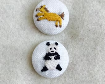 Embroidered Animal Magnets