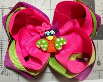 Triple Stacked Owl bow