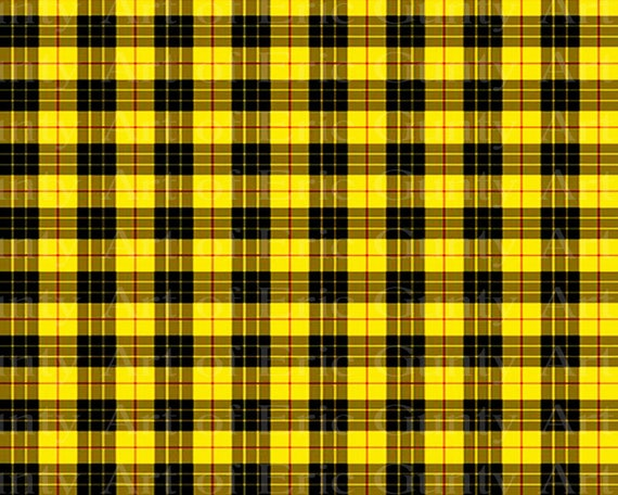 Yellow Plaid Birthday - Edible Cake and Cupcake Topper For Birthday's and Parties! - D22726