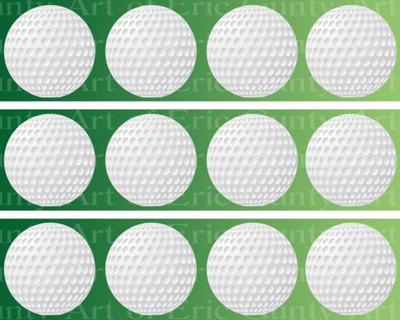 Golfing Golf Balls Birthday - Designer Strips - Edible Cake Side Toppers- Decorate The Sides of Your Cake! - D22756