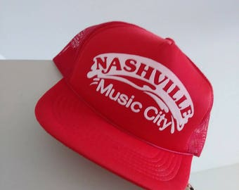 Vintage Nashville Music trucker hat