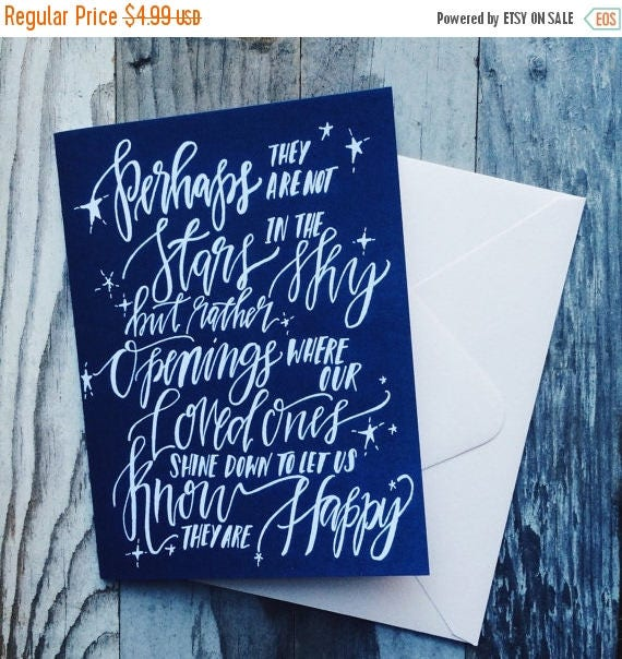 ON SALE Sympathy card, I'm here for you, loss of a loved one, memorial greeting card, comfort in time of need, gone too soon, stars in the s