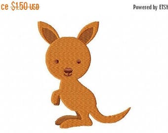 50% OFF - 4X4 Kangaroo Machine Embroidery Design Multiple Formats Available - Instant Download
