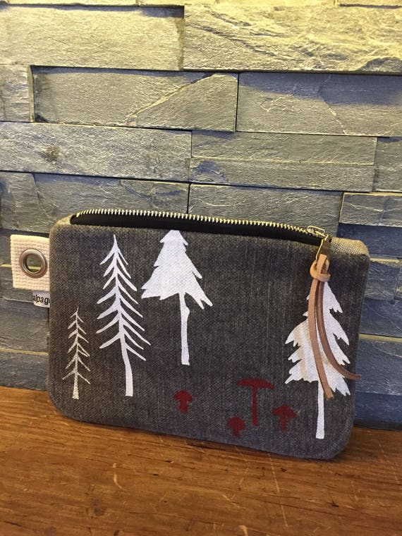 Forest and mushroom small pouch