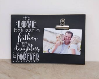 Daddy Daughter Picture Frame, Father's Day Gift Idea, Birthday Gift For Dad, Valentines Day Gift For Dad,  Wall Frame, Father Daughter Gift