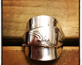Stunning silver tea spoon ring
