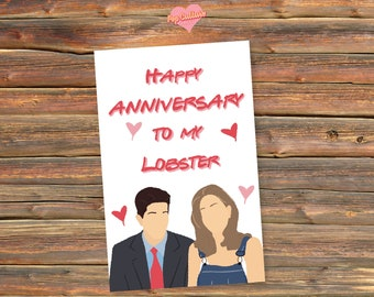You're My Lobster: Ross & Rachel [Friends] Anniversary Card
