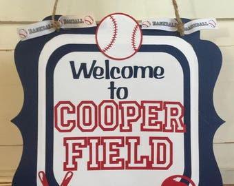 Baseball Party Package, Welcome door sign, Concessions Banner, Party Cups