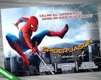 Spiderman Homecoming Invitation
