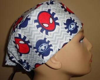Skull Cap , Tie Back , Scrub Cap , MV