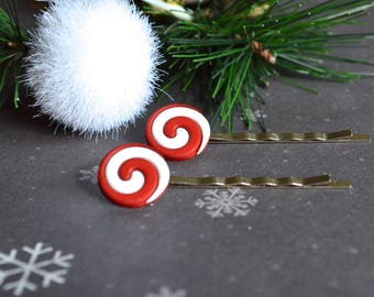 Accessory. Bobby Pins. Candy Bobby Pins. Christmas Bobby Pins. Hair Accessory. Women Accessory. Winter Bobby Pins. Gift Under 15 Dollar.