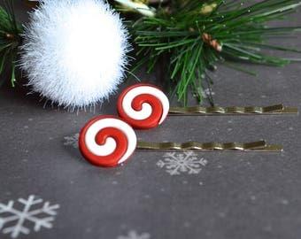 Accessory. Bobby Pins. Candy Bobby Pins. Christmas Bobby Pins. Hair Accessory. Women Accessory. Winter Bobby Pins. Gift Under 15 Dollar.