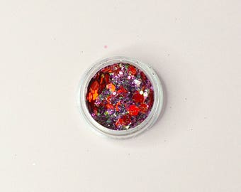 The Little Mermaid, Red and Purple Body Glitter