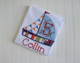 Sailboat Birthday, Sailboat Shirt, Nautical Sailboat, Baby Boy Sailboat, Boy 1st Birthday, Sailboat Party, Sail Boat Birthday, Nautical
