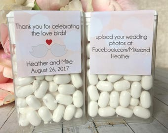 Wedding favor sticker, Mint to Be wedding favor label, Wedding favors for guests, Wedding favors candy, Tic Tac labels, Tic Tac Favor labels