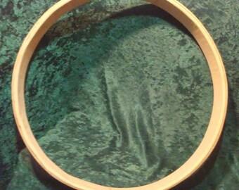 """Cedar Drum Hoop, Steam Bent, Hand Made, 2 1/2"""" deep, Strong Lightweight, Shaman Drum, Traditional Drum Frame, DIY, 12"""", 15"""", 18"""", 20"""""""