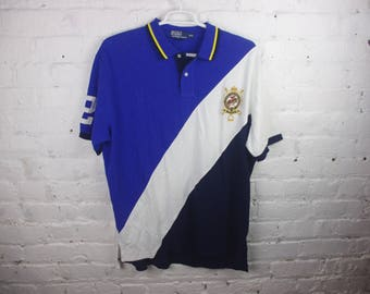 Polo Ralph Lauren Jersey RARE club crest 90s stripe