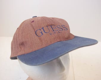 GUESS Snapback hat cap low profile dad 90s