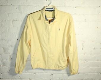 Polo Ralph Lauren Banana Yellow jacket coat long sleeve full zip