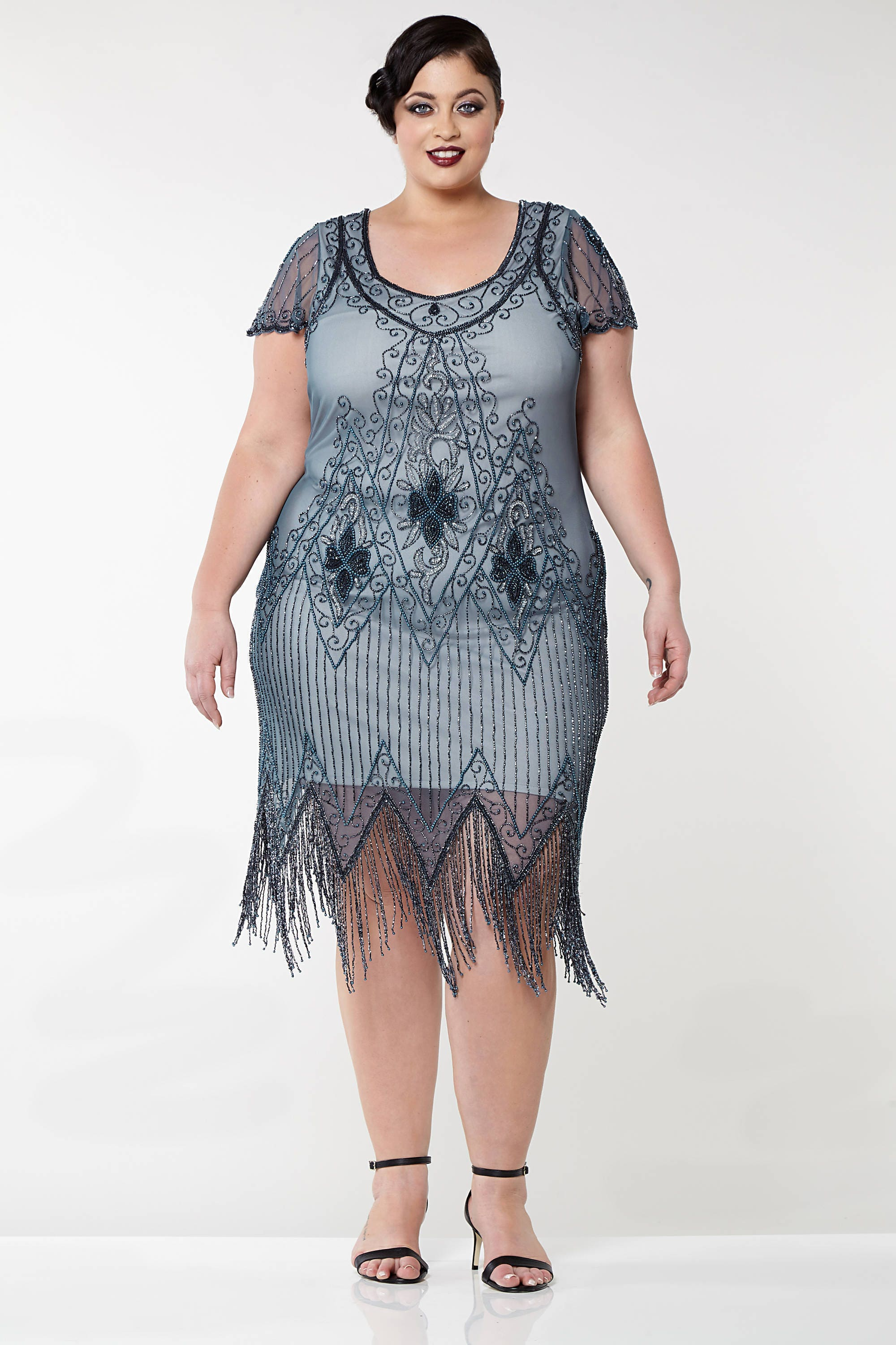 Plus Size 3/4 Bell Sleeve Printed Keyhole Dress with Metallic Studs Add to cart to view price Keeping this secret is one of the ways we keep bringing you top designers and brands at great prices.