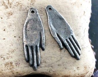Hand Charms, Handcrafted, Handmade, Jewelry Making Components No. 592CD