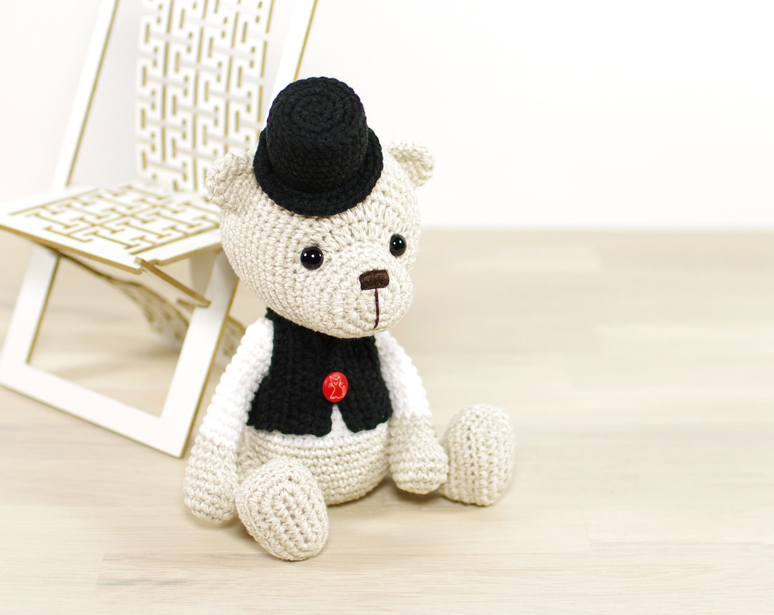 Pattern Teddy Bear In A Top Hat And Vest En 039 From