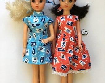 Shipshape dresses for vintage Sindy. (Adult collectors only.)