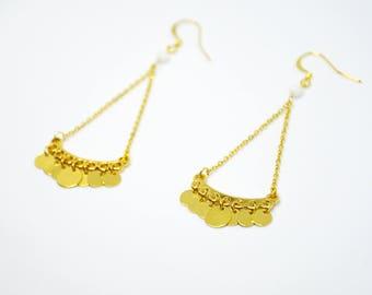 Boucles ZEA // dorées à l'or fin