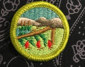 Vintage Scout Patch (1) - hiking mountains merit badge