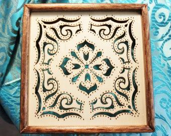 Beautiful Potpourri Box - Scrolled,Wood-burned for potpourri, jewelry, keepsakes...wonderful gift!!!