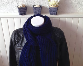 Scarf for men, Navy Blue mesh