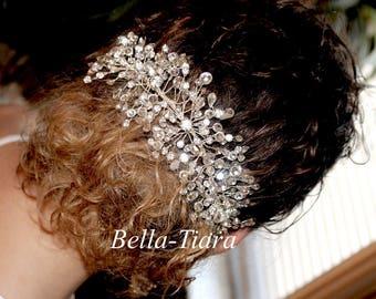 crystal hairvine, bridal headpiece, wedding hair comb, wedding comb, wedding headpiece, wedding crystal spray, bridal clip